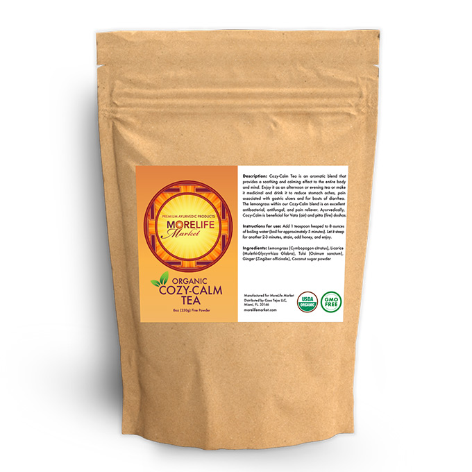 MoreLife Market Cozy Calm Herbal Tea in Parchment Bag