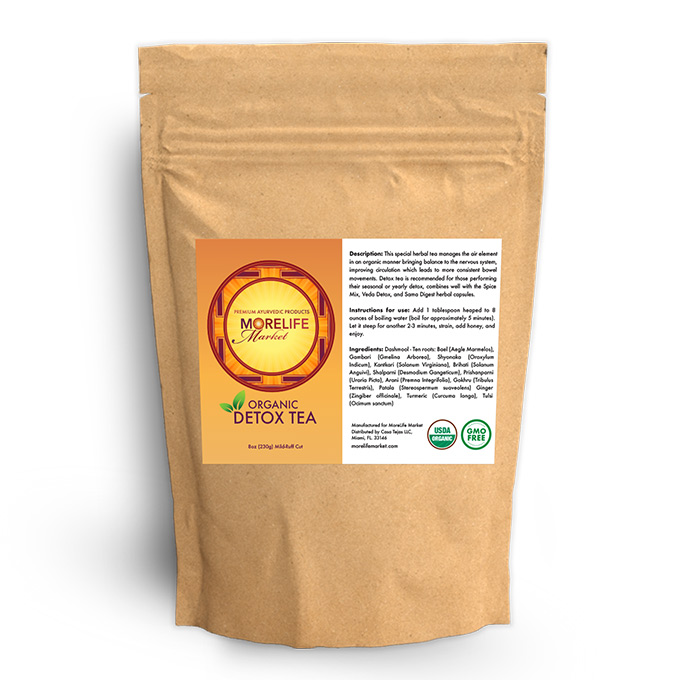 MoreLife Market Detox Herbal Tea in Parchment Bag