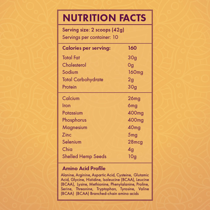 MoreLife Market Yoga Body Protein Powder Nutrition Facts