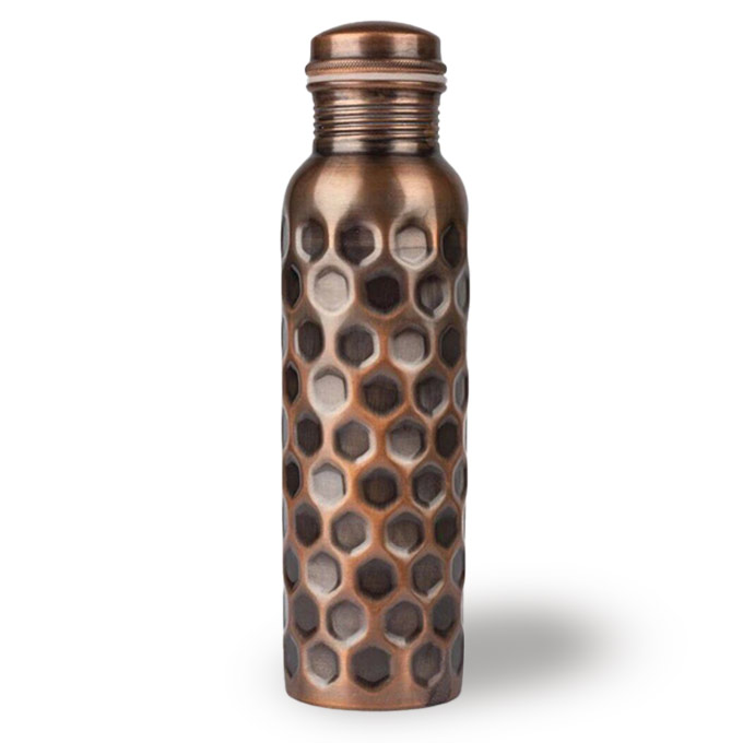 copper drink bottle antique