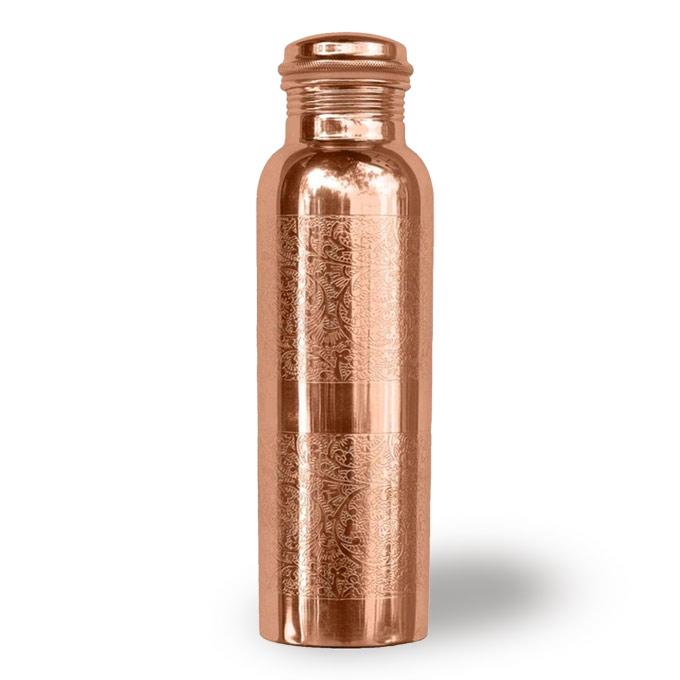 copper drink bottle plain
