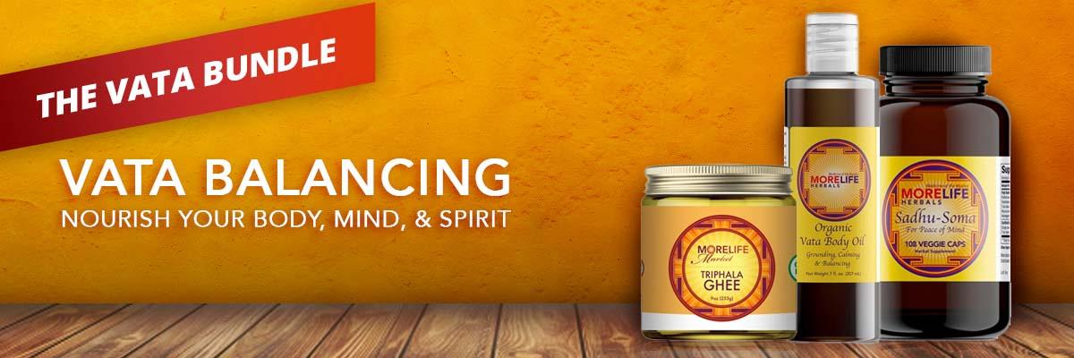 The Vata Bundle - triphala ghee, vata body oil, sadhu soma